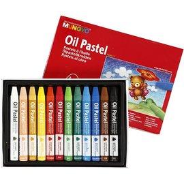 FARBE / STEMPELKISSEN MUNGYO pastel d'huile, épaisseur 10 mm, L: 7 cm, 12 couleurs
