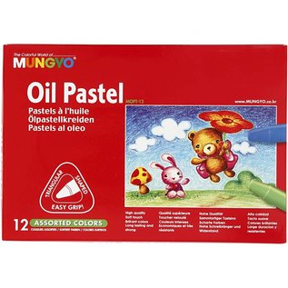 FARBE / STEMPELKISSEN Mungyo Oil Pastel, thickness 10 mm, l: 7 cm, 12 colors