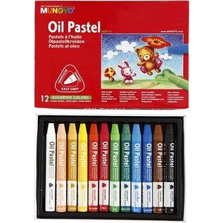 FARBE / STEMPELKISSEN Mungyo Oil Pastel, dicke 10 mm, L: 7 cm, 12 Farben