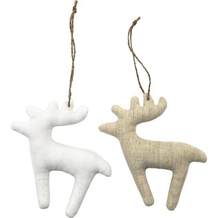 BASTELSETS / CRAFT KITS Fabric figures, size 11x11.5 cm, thickness: 2 cm, reindeer