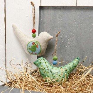 BASTELSETS / CRAFT KITS Fabric figures, size 13x7.5 cm, thickness: 3 cm, birds