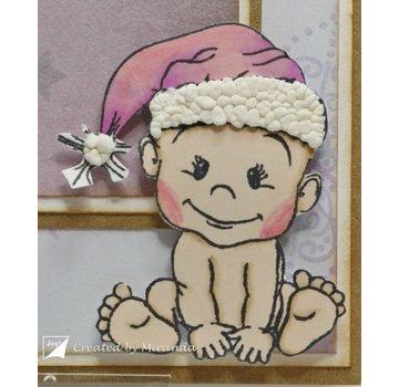 Stempel / Stamp: Transparent Transparant Stempel: Baby en Teddy Bears, kerst beren