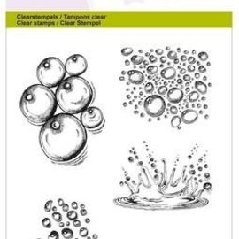 Crealies und CraftEmotions Motif, transparent: A6 - Goutte d'eau