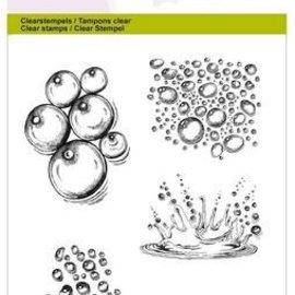Crealies und CraftEmotions Motivstempel, gennemsigtig: A6 - Dråbe vandspat