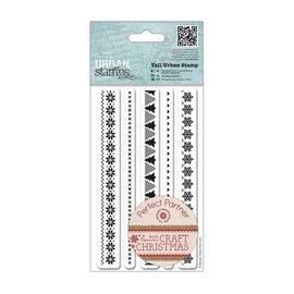 C.C.Designs Sello de goma (caucho), bordes de Navidad