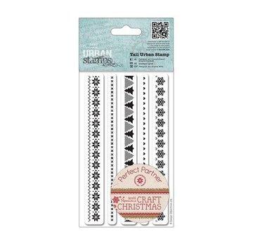 C.C.Designs Timbre en caoutchouc (en caoutchouc), les frontières de Noël