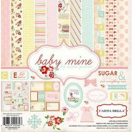 Carta Bella / Echo Park / Classica Designer block: Baby Mine Girl Collection Kit by Carta Bella