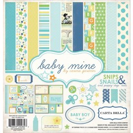 "Carta Bella / Echo Park / Classica Designersblock: Baby Mine ""Boy"" Collection Kit fra Carta Bella"