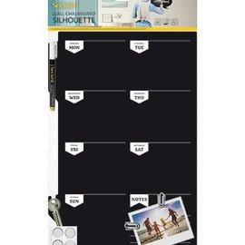 BASTELSETS / CRAFT KITS Una gran pizarra creativa planificador semanal, tamaño: 30 x 45 cm!