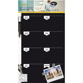 BASTELSETS / CRAFT KITS Un grand Chalkboard créatif planification hebdomadaire, taille: 30 x 45 cm!