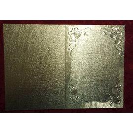 KARTEN und Zubehör / Cards Dobbelt kort i stor metallisk effekt
