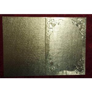 KARTEN und Zubehör / Cards Doppelkarten in tollen metallic Effekt