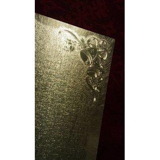 KARTEN und Zubehör / Cards Dual kaarten in grote metallic effect