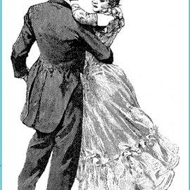 STEMPEL / STAMP: GUMMI / RUBBER Timbro ballo al ballo, circa 8 x 12 cm