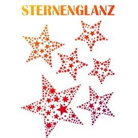 Dutch DooBaDoo Universal stencil A4, star gloss
