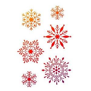 Dutch DooBaDoo Universal sjabloon A4, sneeuwvlokken