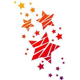 Dutch DooBaDoo Universal skabelon A4, stjerner