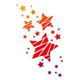 Dutch DooBaDoo Universal sjabloon A4, sterren