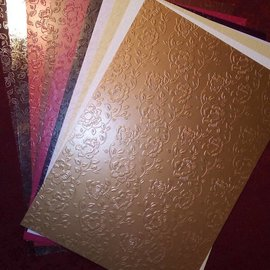 "Karten und Scrapbooking Papier, Papier blöcke gamma cartone a forma di ""cartone Rose"""