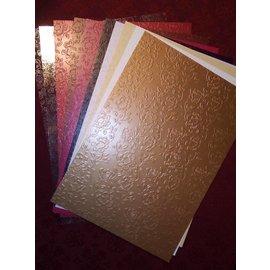 """Karten und Scrapbooking Papier, Papier blöcke Carton assortment """"Rosenkarton"""", embossed"""