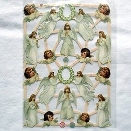 Bilder, 3D Bilder und ausgestanzte Teile usw... Recortes con 16 ángeles