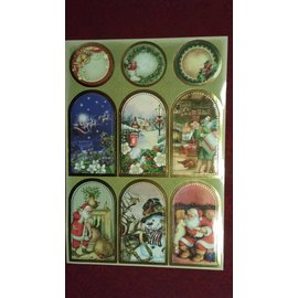 Sticker Feuille d'autocollants avec de superbes photos de Noël!