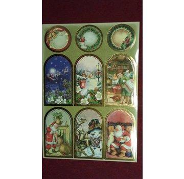 Sticker Sticker ark med flotte jule billeder!