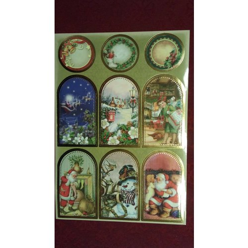 Sticker Sticker sheet with great Christmas pictures! - Copy