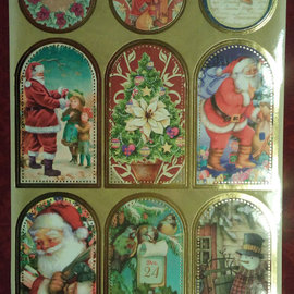 Sticker Sticker sheet with great Christmas pictures!