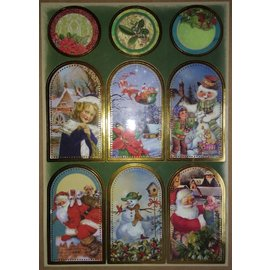 STICKER / AUTOCOLLANT Feuille d'autocollants avec de superbes photos de Noël!