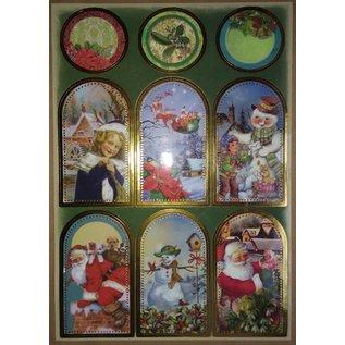 STICKER / AUTOCOLLANT foglio adesivo con grandi immagini di Natale!