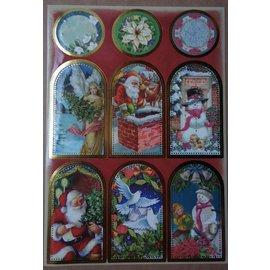STICKER / AUTOCOLLANT hoja de etiquetas con los grandes cuadros de Navidad!