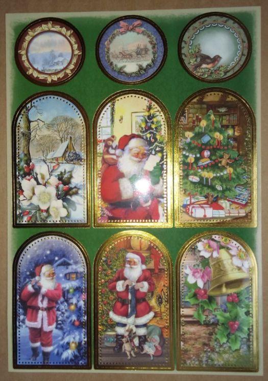 Tolle Weihnachtsbilder.Sticker Stickerbogen Mit Tolle Weihnachtsbilder