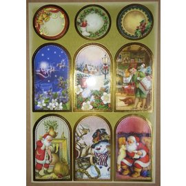 STICKER / AUTOCOLLANT Sticker sheet with great Christmas pictures!
