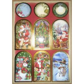 STICKER / AUTOCOLLANT Stickervel met geweldige kerst foto's!