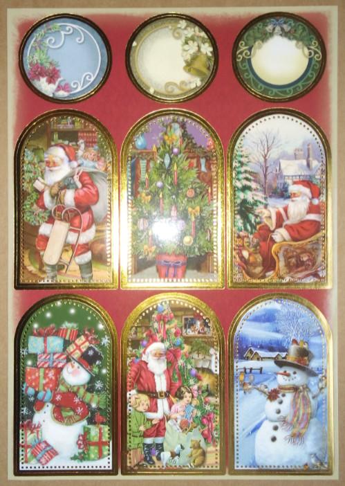 Winterliche Weihnachtsbilder.Sticker Stickerbogen Mit Tolle Weihnachtsbilder
