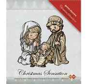 Yvonne Creations Gennemsigtig Stempel: Jesus Maria og Josef