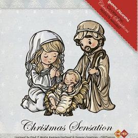 Yvonne Creations Timbre transparent: Jesus Maria et Josef