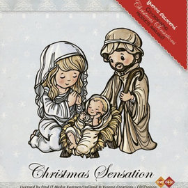 Yvonne Creations Transparent Stempel:Jesus Maria and Josef