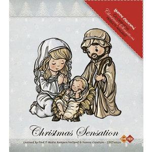 Yvonne Creations Transparant Stempel: Jesus Maria en Josef