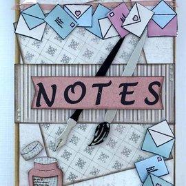 Joy!Crafts / Jeanine´s Art, Hobby Solutions Dies /  Stansmessen: borstel, pen, enveloppen en brief