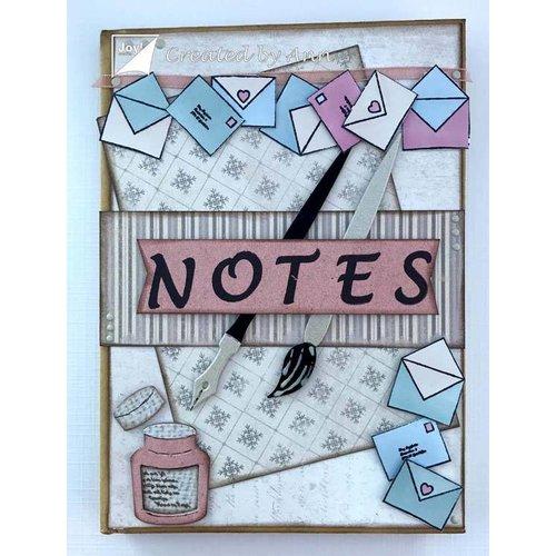 Joy!Crafts / Jeanine´s Art, Hobby Solutions Dies /  Skæring dør: pensel, pen, kuverter og bogstav