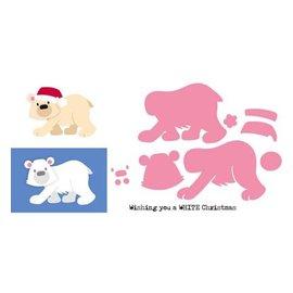 Marianne Design dies de coupe: l'ours polaire de Eline