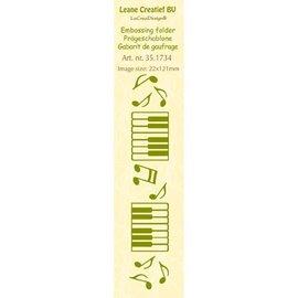 Leane Creatief - Lea'bilities und By Lene Embossing Folder, size 24 x 122 cm