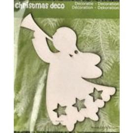 Holz, MDF, Pappe, Objekten zum Dekorieren decoraciones de Navidad de la madera: 1 Ángel de la Navidad