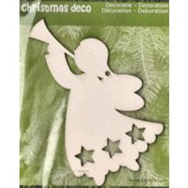 Holz, MDF, Pappe, Objekten zum Dekorieren Kerstversiering uit hout: 1 De Engel van Kerstmis