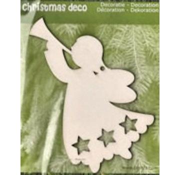 Holz, MDF, Pappe, Objekten zum Dekorieren Julepynt fra træ: 1 jul Angel