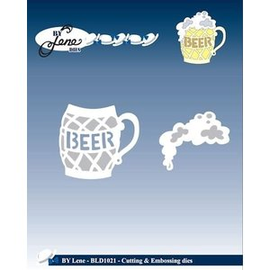 JEANINES ART (NEU) Punching and embossing template, A glass of beer with foam