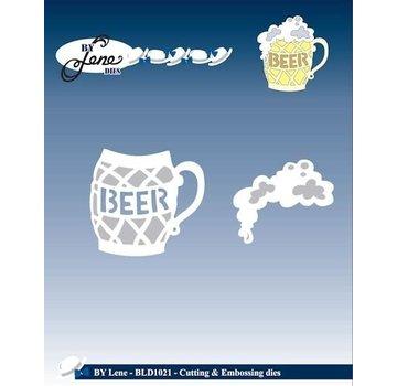 JEANINES ART (NEU) Stanz und Prägeschablone, Ein Glas Bier mit Schaum