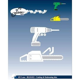 JEANINES ART (NEU) Stempling og prægning skabelon værktøjer: chainsaw og bore